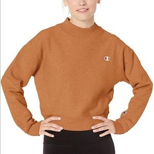 Champion Women's mock neck crop sweatshirt